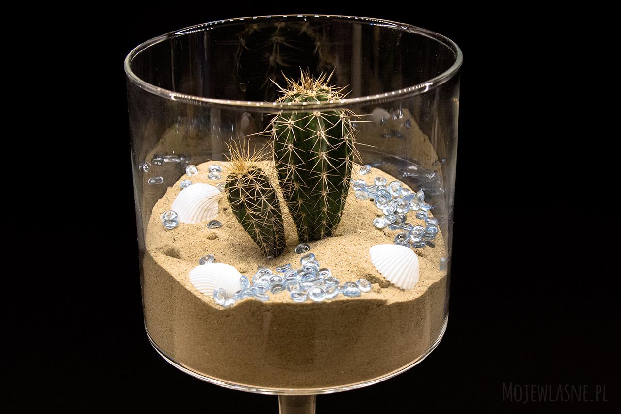 Kaktus dekoracja w szkle 1