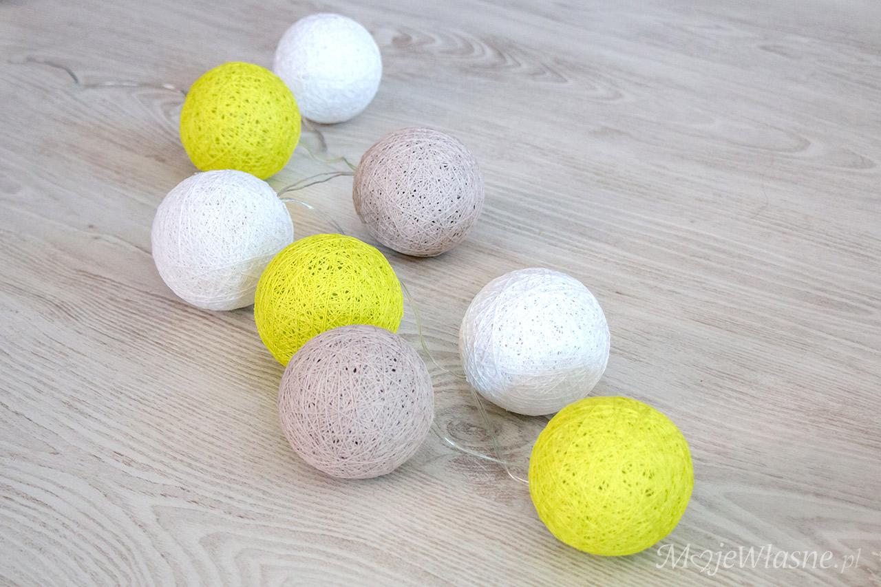 cotton balls light DIY 1