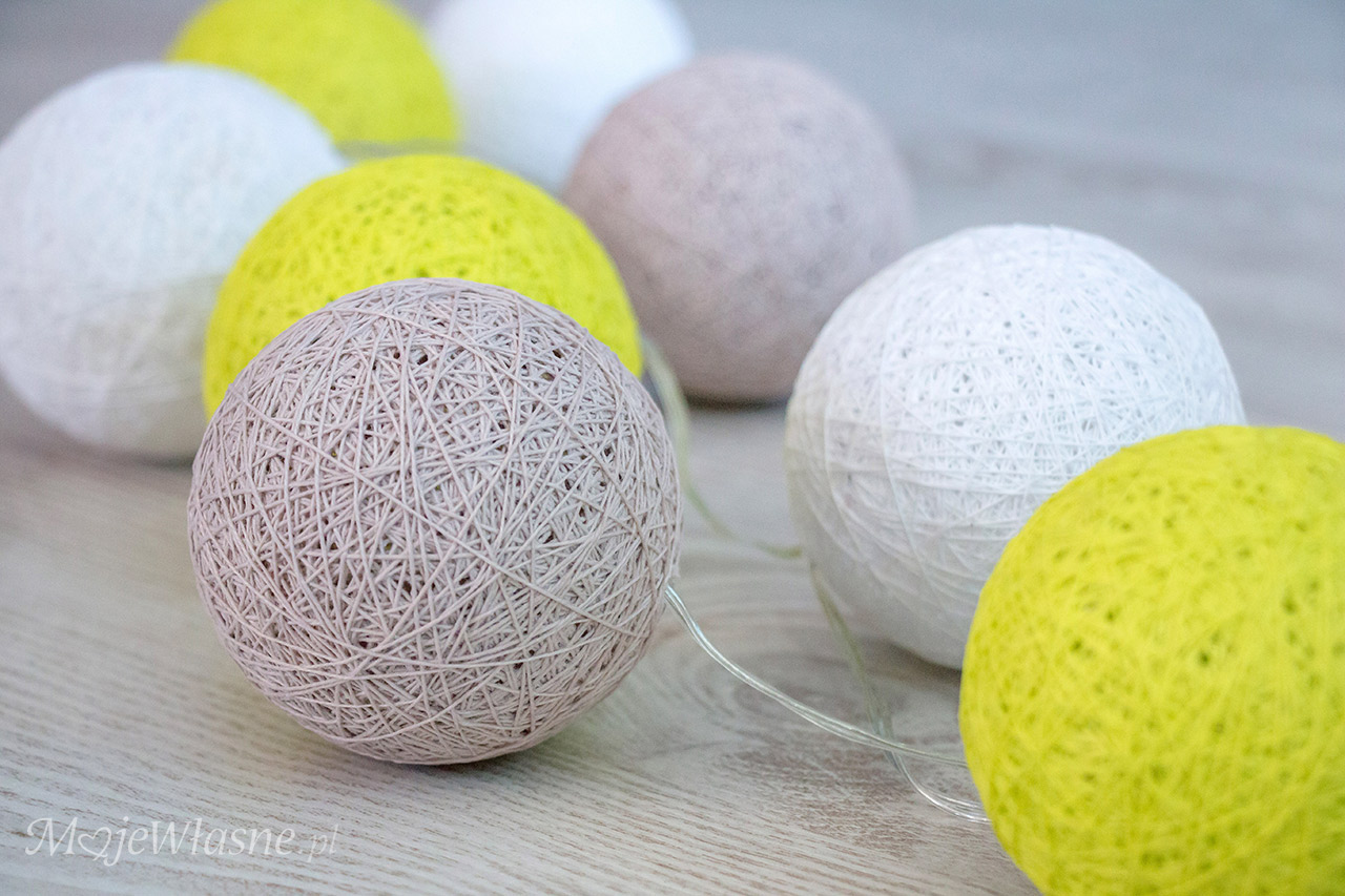 cotton balls light DIY 2