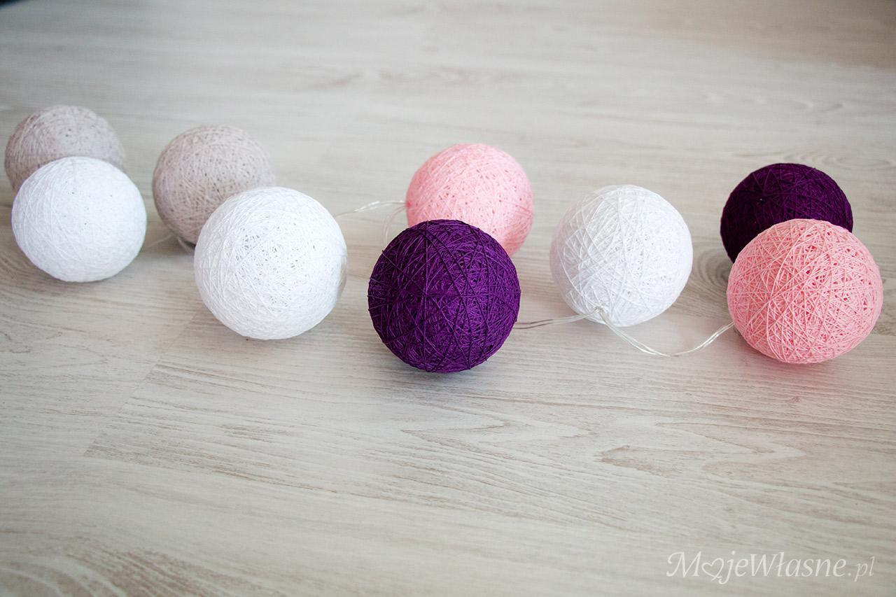 cotton balls light DIY handmade