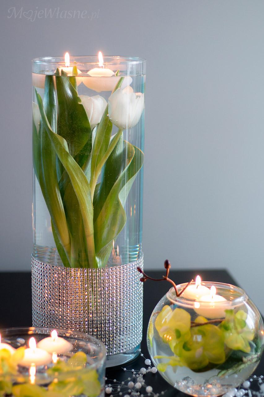 tulipany w wodzie dekoracja