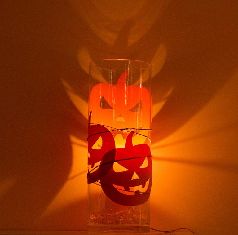 Lampion na haloween – dynie w szkle