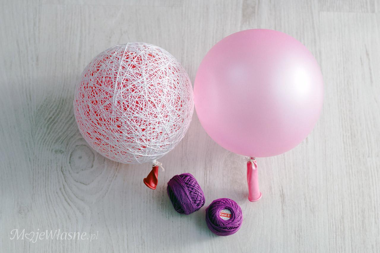 cotton bombka handmade