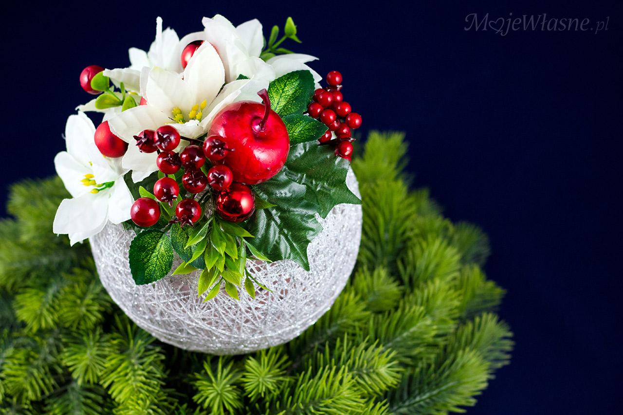 owocowy stroik na święta handmade