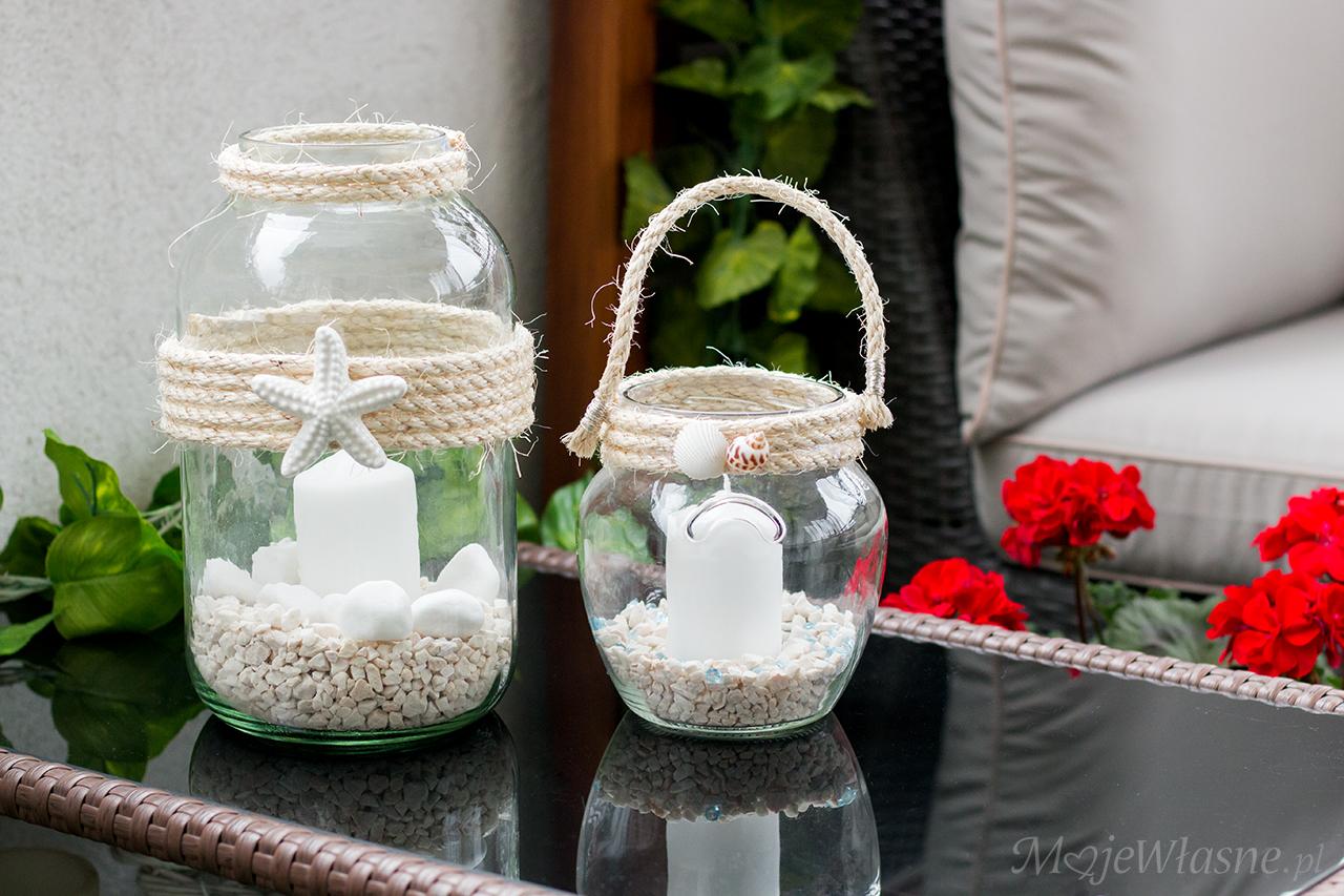 DIY Lampiony ze słoika – styl morski