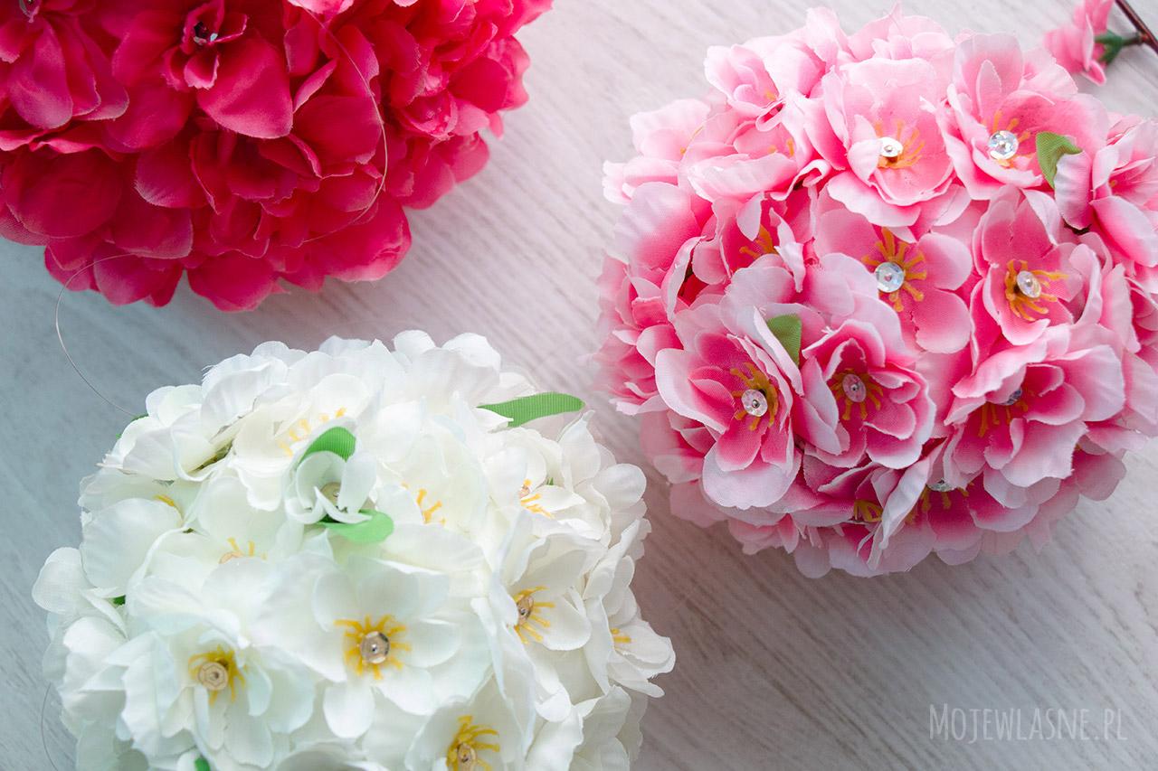 Kule z kwiatów