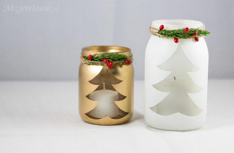 Świąteczne lampiony DIY ze słoików