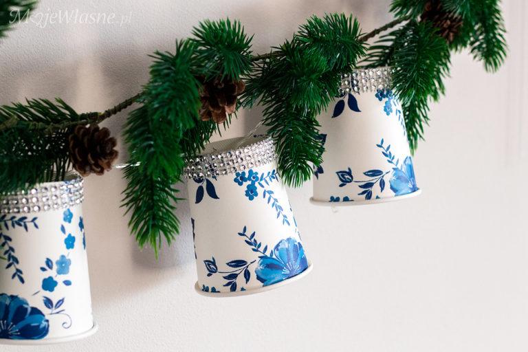 DIY Girlanda świetlna z kubeczków papierowych