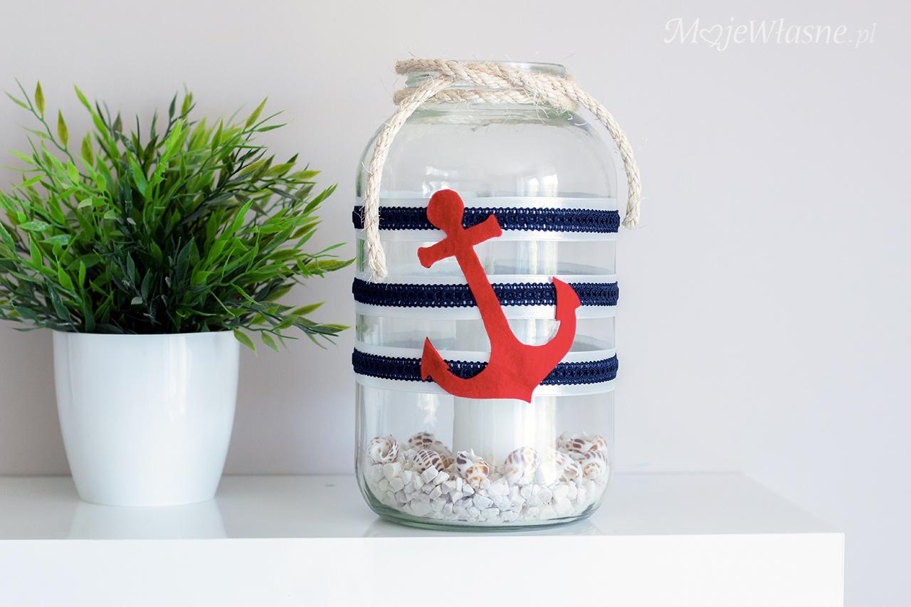 DIY Lampion ze słoika – styl marynarski