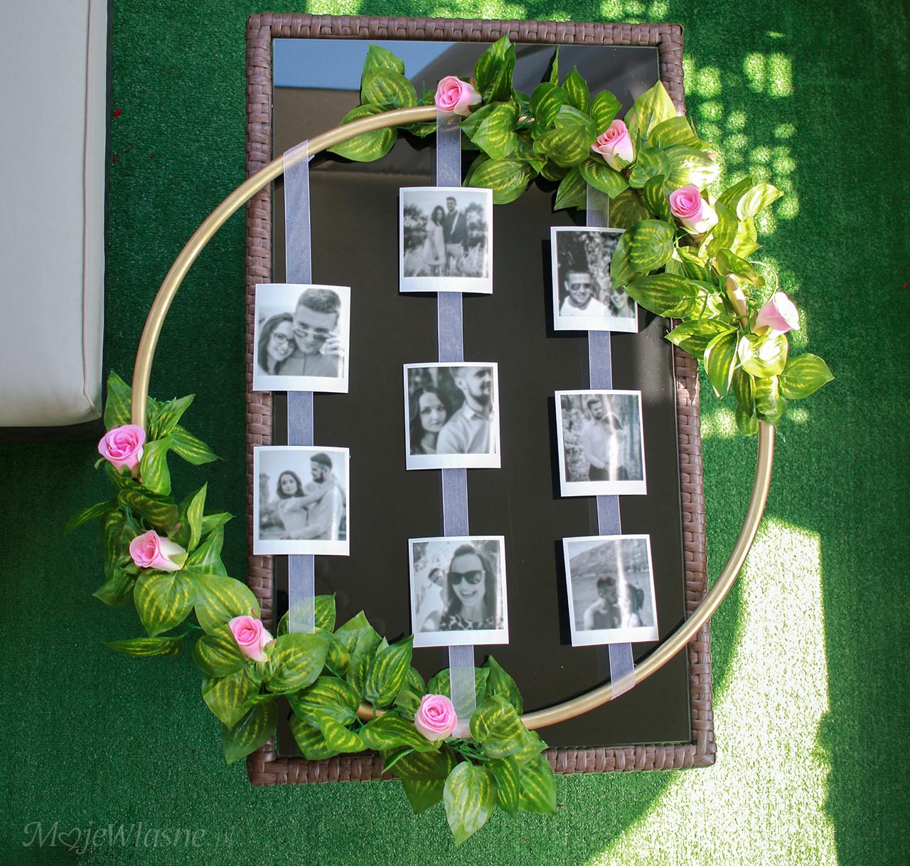 DIY obrączka – dekoracja weselna