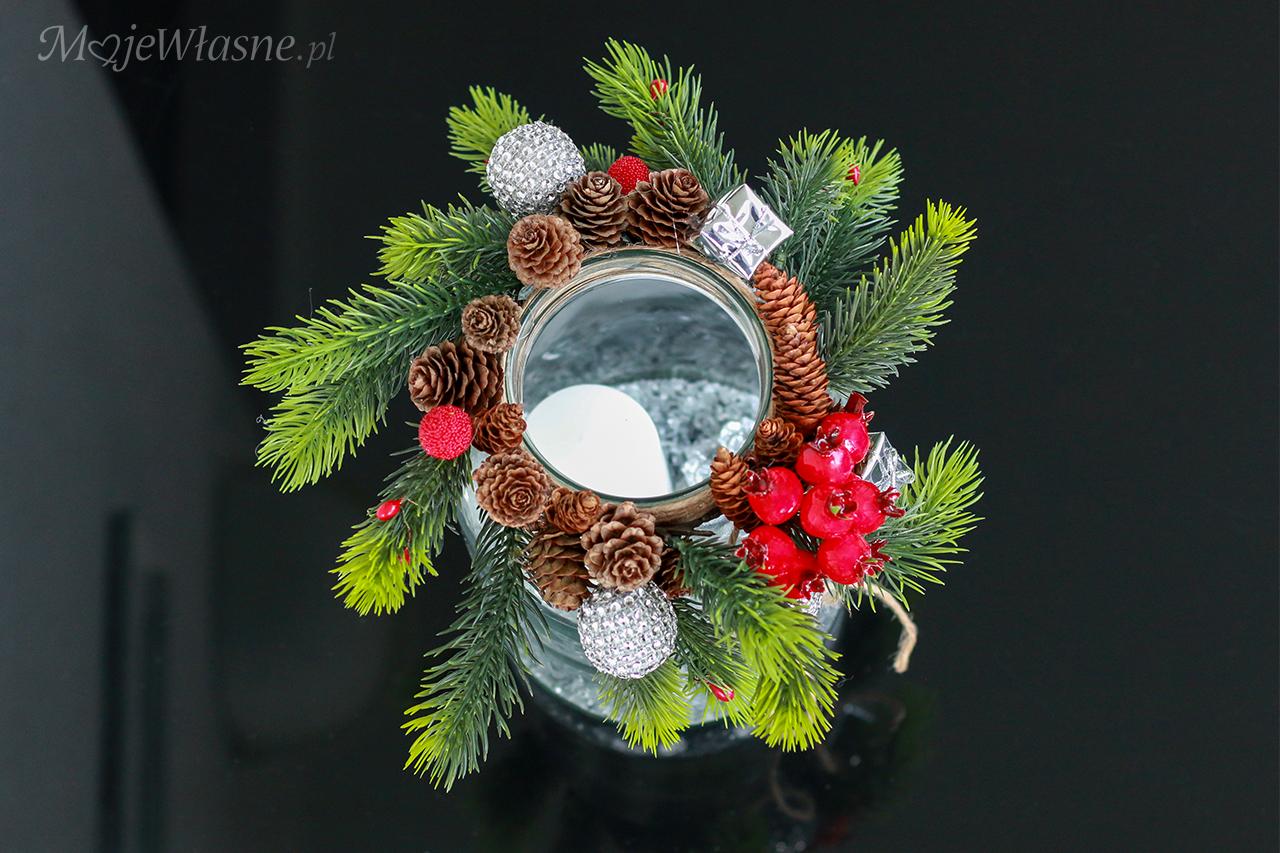 DIY Świąteczny lampion ze słoika