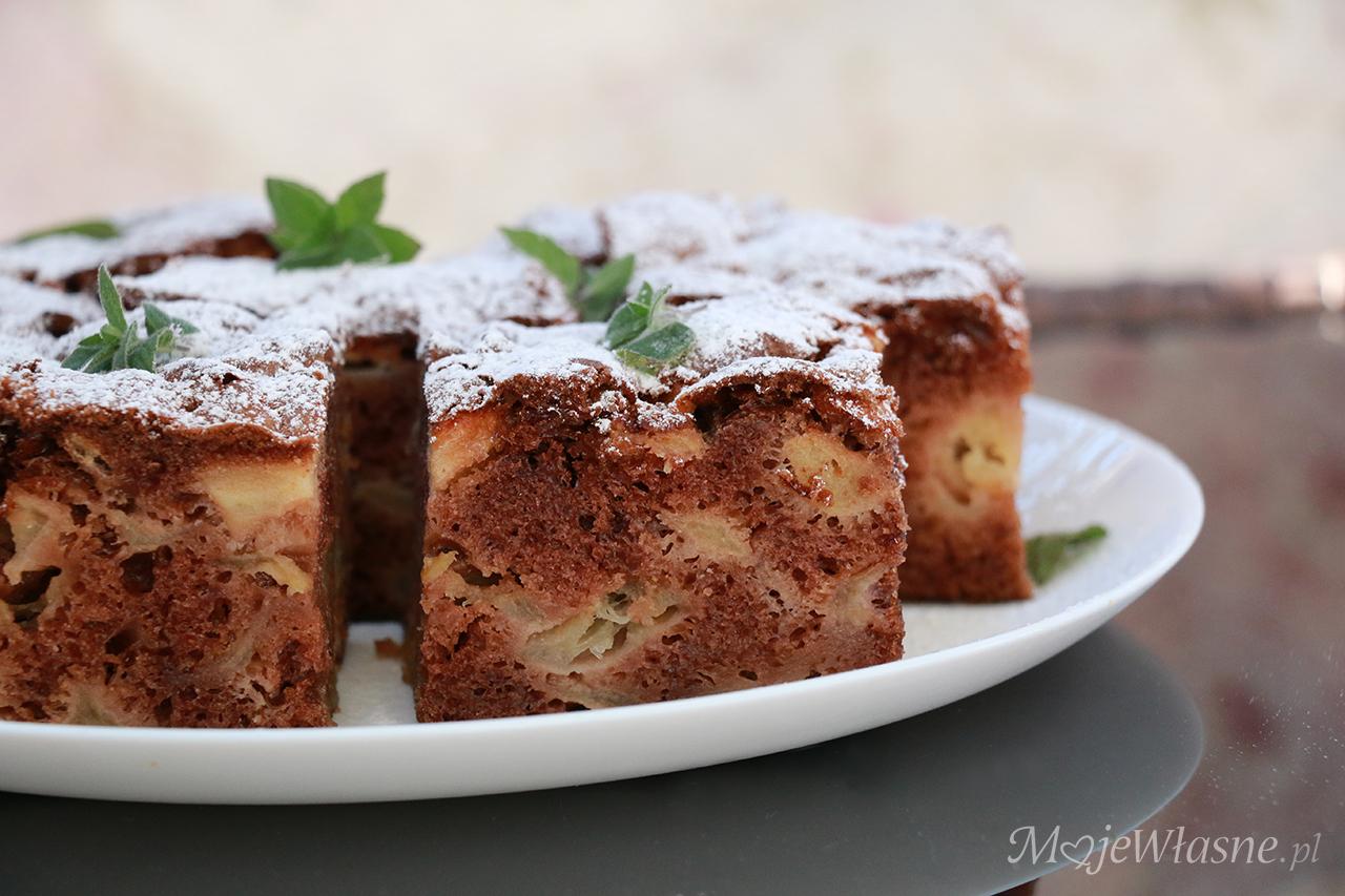 Łatwe ciasto z jabłkami (salceson)