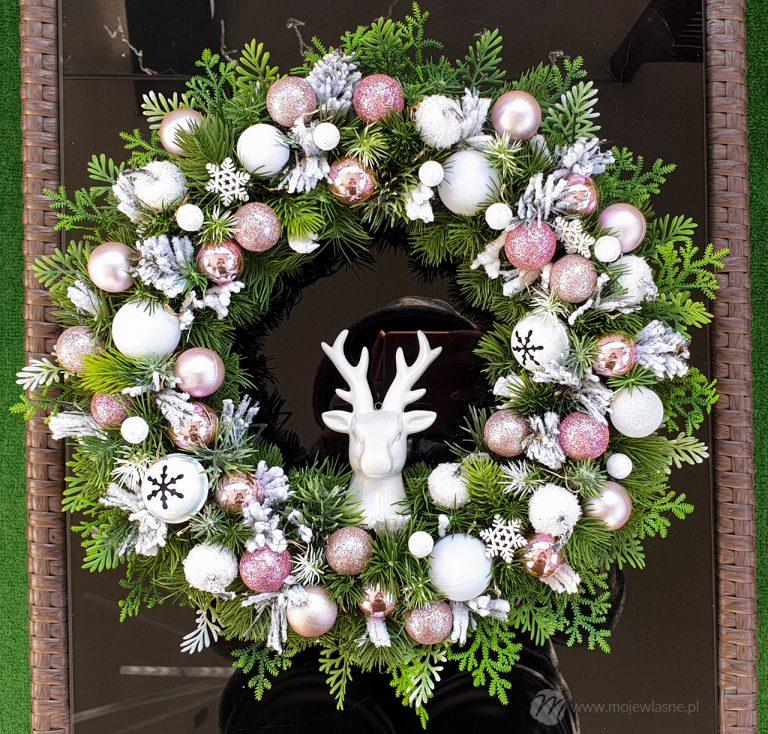 DIY Świąteczne i zimowe wianki na drzwi