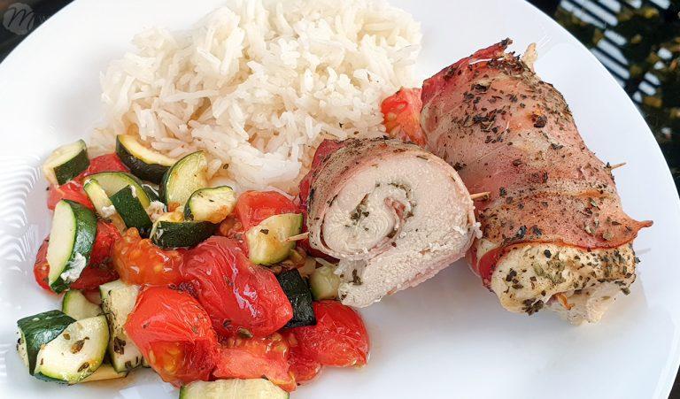 Fit: Pierś zapiekana z warzywami i szynką parmeńską