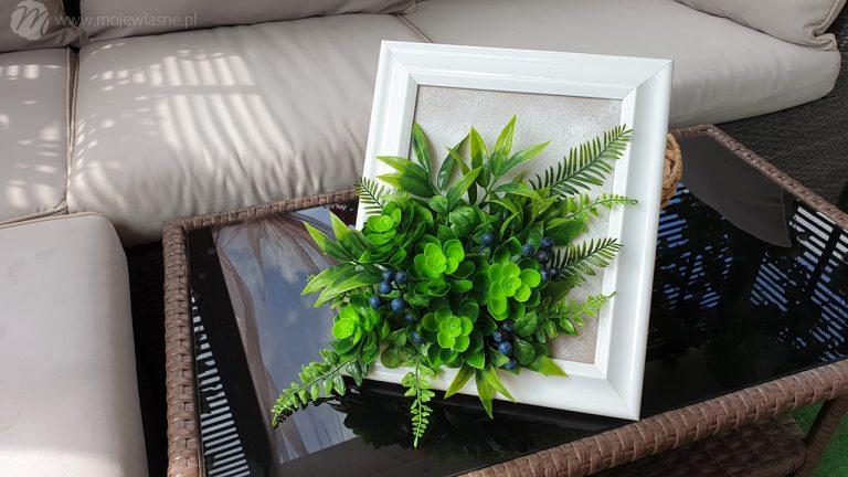 Ramka z roślinami DIY